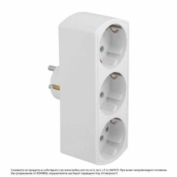 Разклонител без кабел за стена ZD01-03- 3500W - а