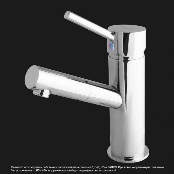 Смесител за мивка с въртящ се чучур, едноръкохватков с керамична глава 35мм модел Synchro 1312B