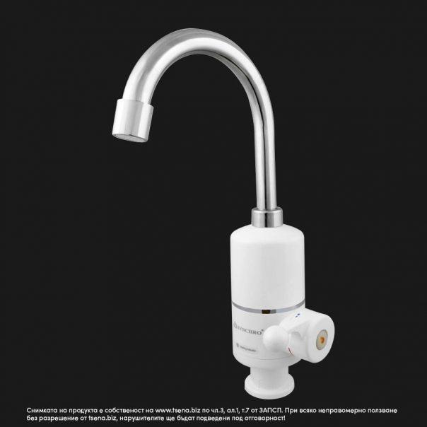 Нагревател за вода 3kw, проточен смесител, цена, Synchro AQN-4E-3 за мивка, кухня, умивалник