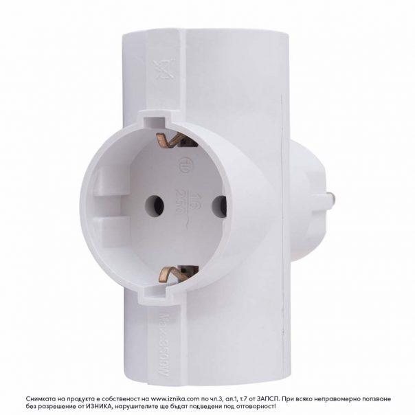 Разклонител без кабел ZD01-03 максимално натоварване 3500W - ф