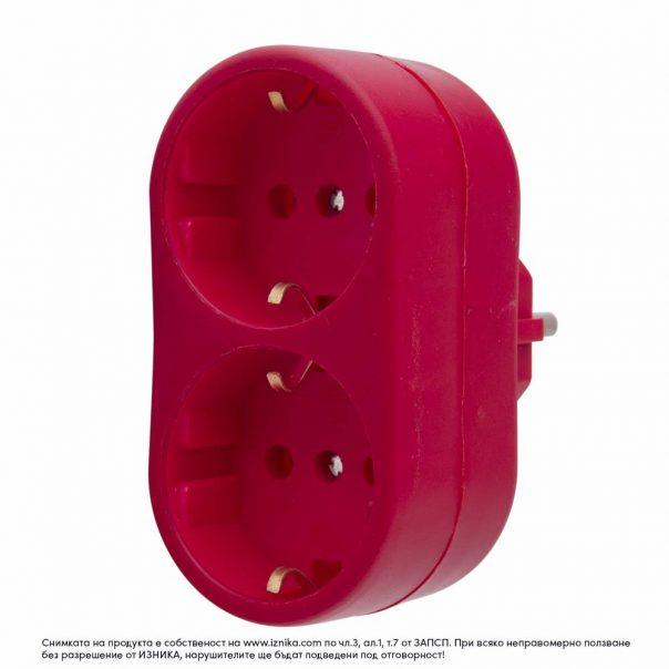 Разклонител без кабел ZD01-02 червен максимално натоварване 3500W - ф