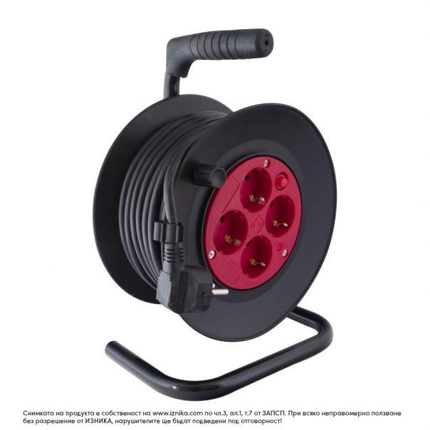 Макара с кабел DG-4ZR-D04 -15 метра сечение 3G1.5mm2 - Ф