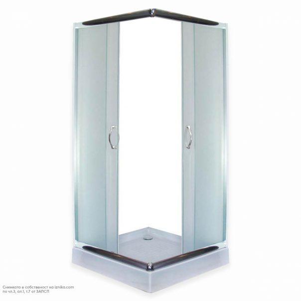 Душ кабина за баня квадратна SK-S-004 с включен сифон и душ корито