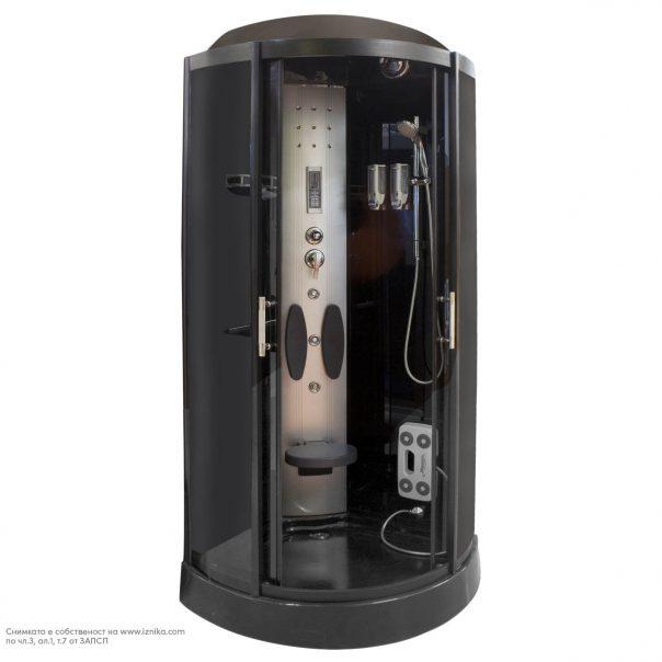 Душ кабина хидромасажна с парогенератор MZ003-1 черна, затъмнени стъкла