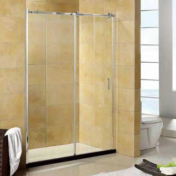 Параван за баня стъклен с прозрачни стъкла SK-S-080