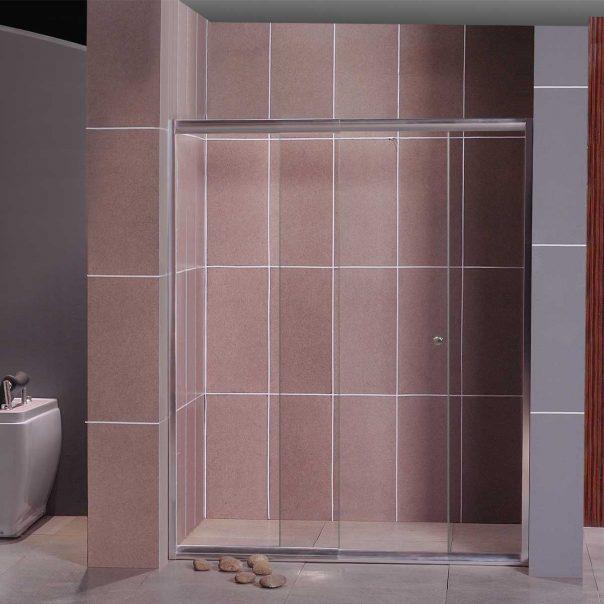 Параван за баня стъклен SC-03 с подвижна плъзгаща се врата